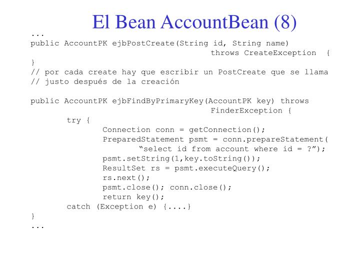 El Bean AccountBean (8)