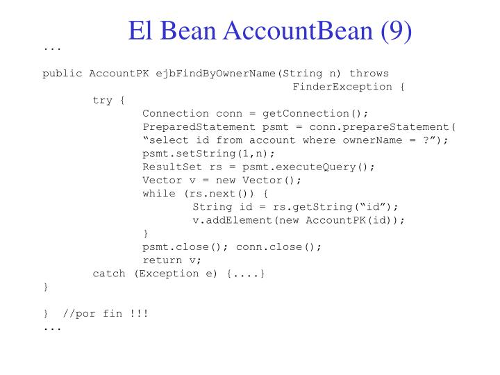 El Bean AccountBean (9)