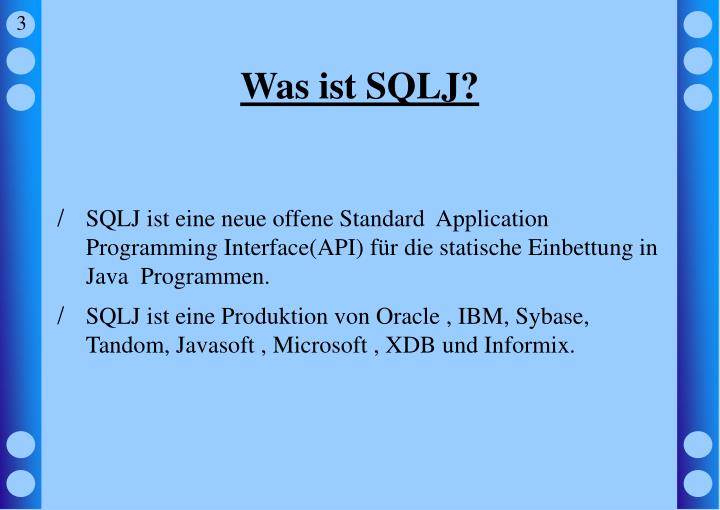 Was ist sqlj