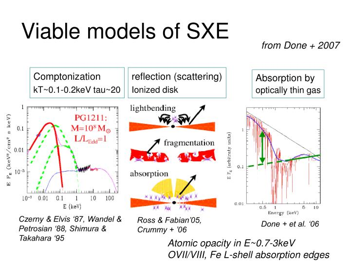 Viable models of SXE