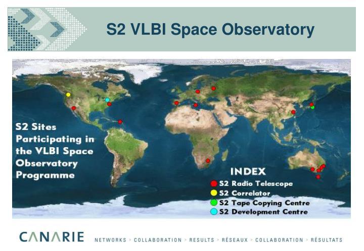 S2 VLBI Space Observatory
