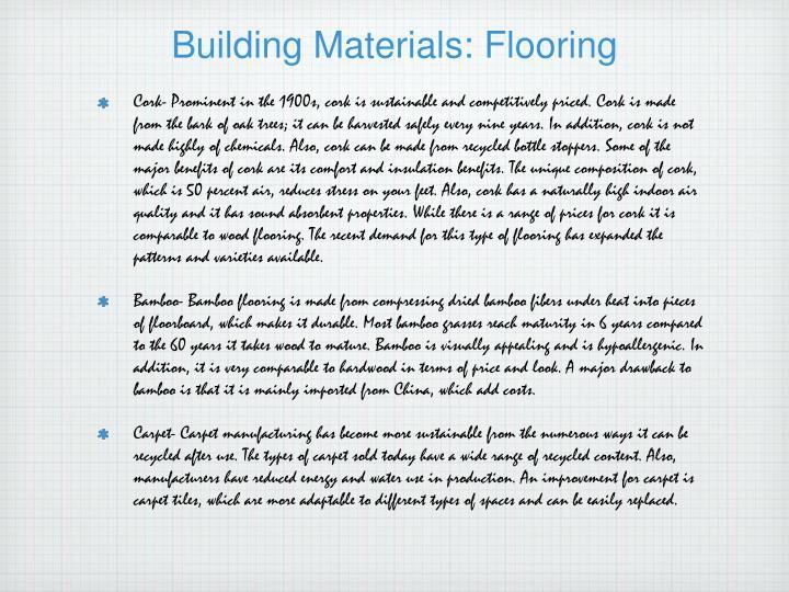 Building Materials: Flooring