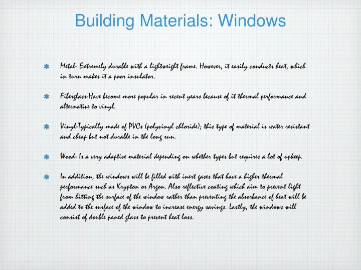 Building Materials: Windows