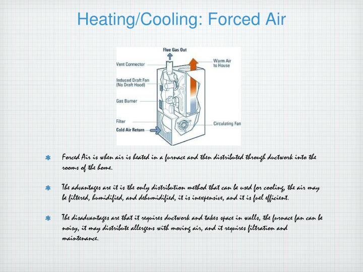 Heating/Cooling: Forced Air