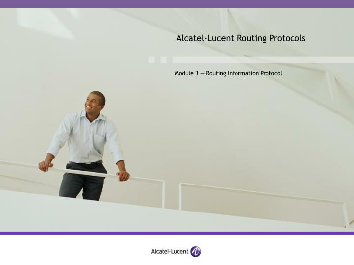Alcatel-Lucent Routing Protocols