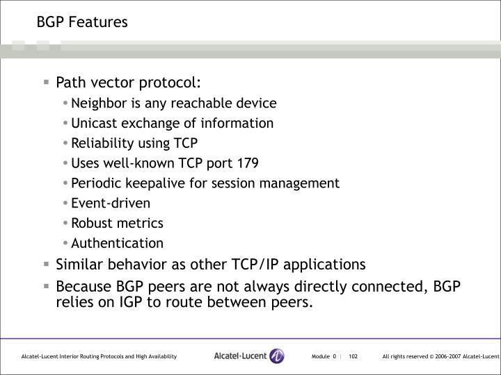 BGP Features