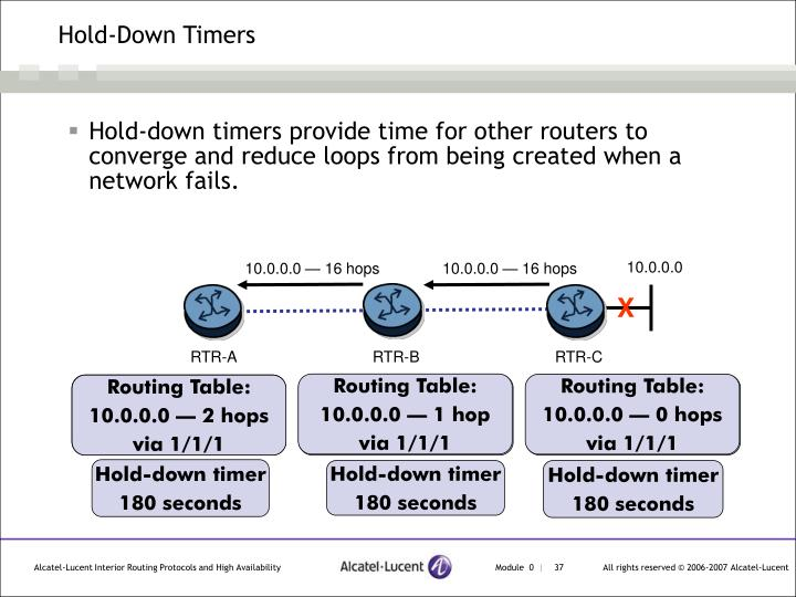 Hold-Down Timers