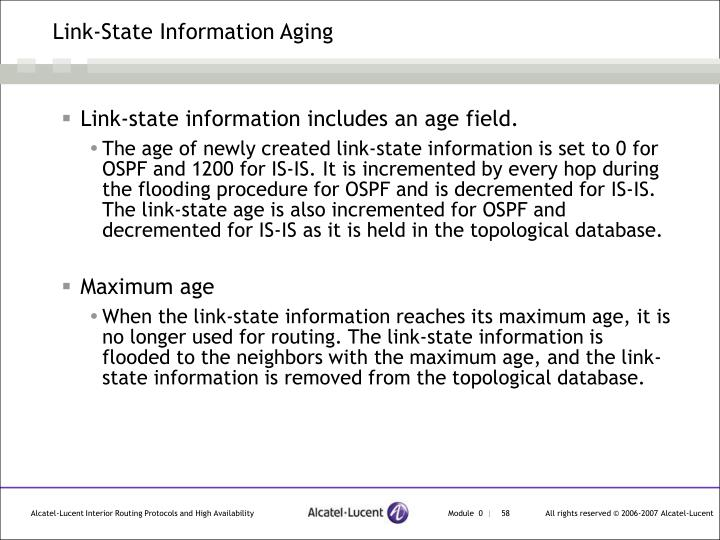 Link-State Information Aging
