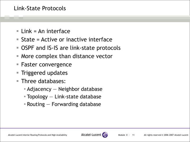 Link-State Protocols