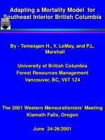 adapting a mortality model for southeast interior british columbia
