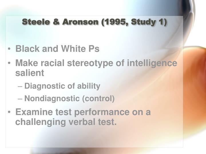 Steele & Aronson (1995, Study 1)