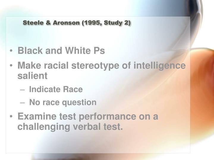 Steele & Aronson (1995, Study 2)