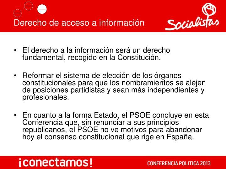 Derecho de acceso a información