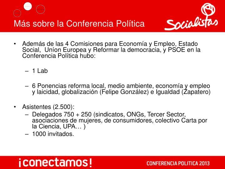 Más sobre la Conferencia Política