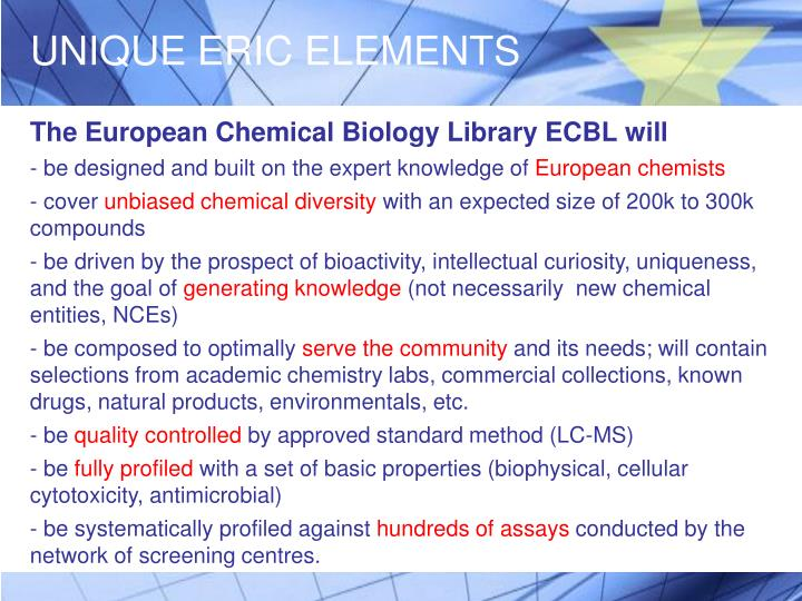 UNIQUE ERIC ELEMENTS