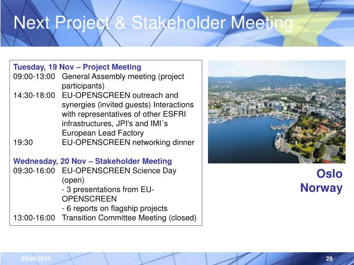 Next Project & Stakeholder Meeting