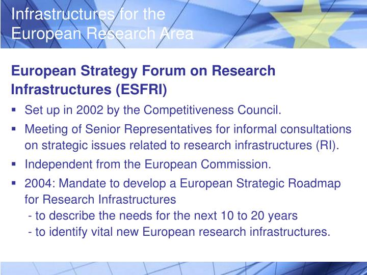 European Strategy Forum on Research Infrastructures (