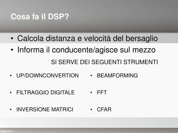 Cosa fa il DSP?