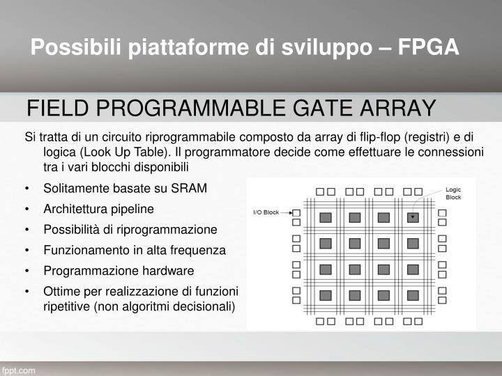 Possibili piattaforme di sviluppo – FPGA