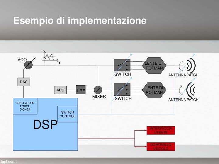 Esempio di implementazione