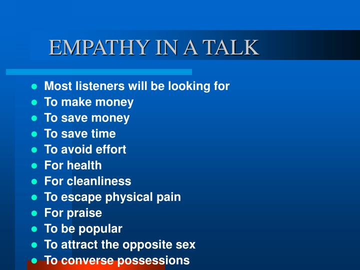 EMPATHY IN A TALK