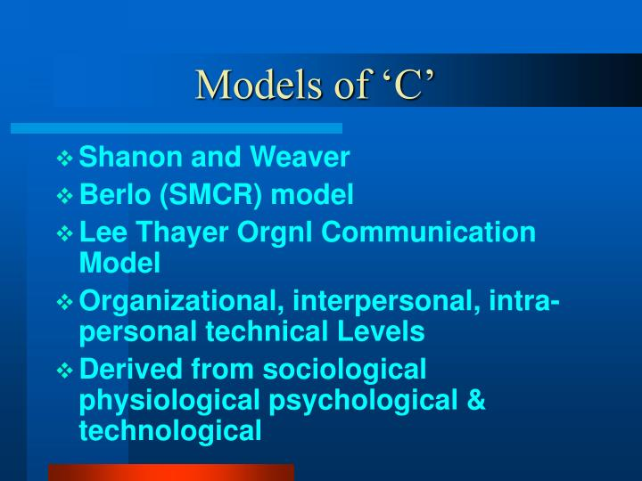 Models of 'C'