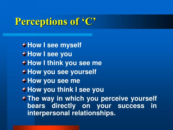 Perceptions of 'C'