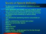 secrets of speech delivery