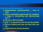 semantics in scientific communication