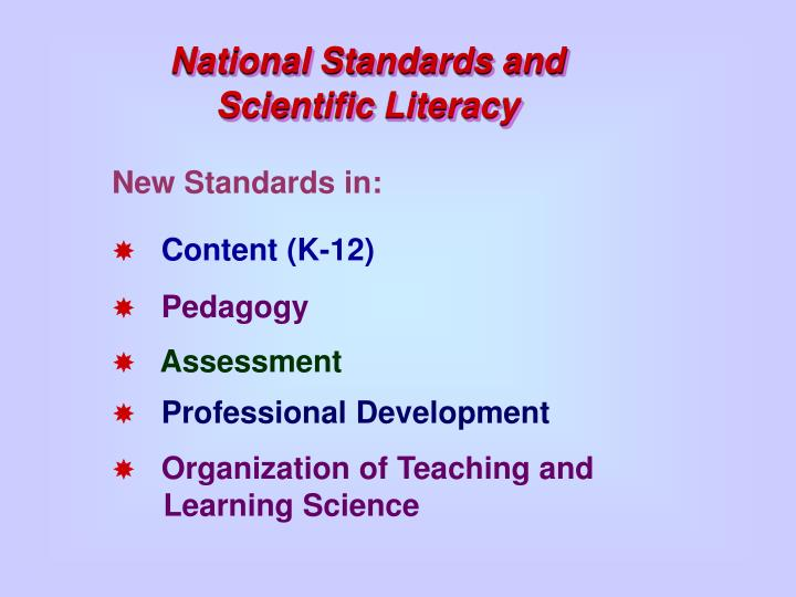 National Standards and