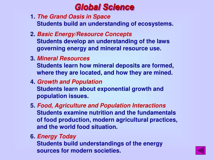 Global Science