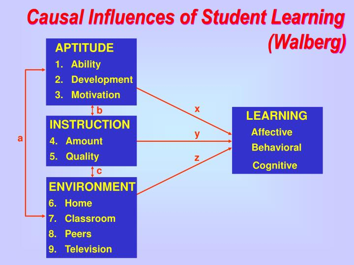 Causal Influences of Student Learning