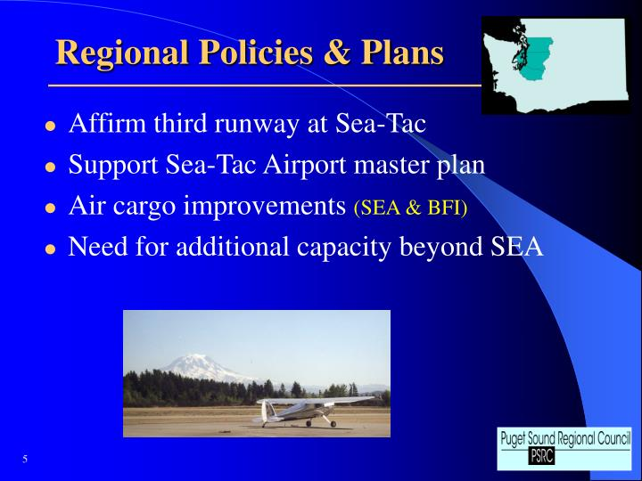 Regional Policies & Plans