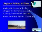 regional policies plans