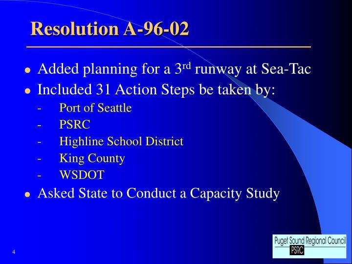 Resolution A-96-02
