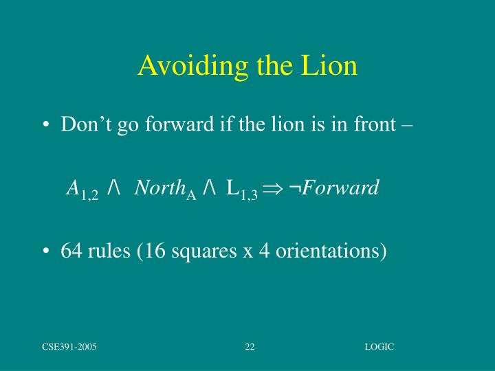 Avoiding the Lion