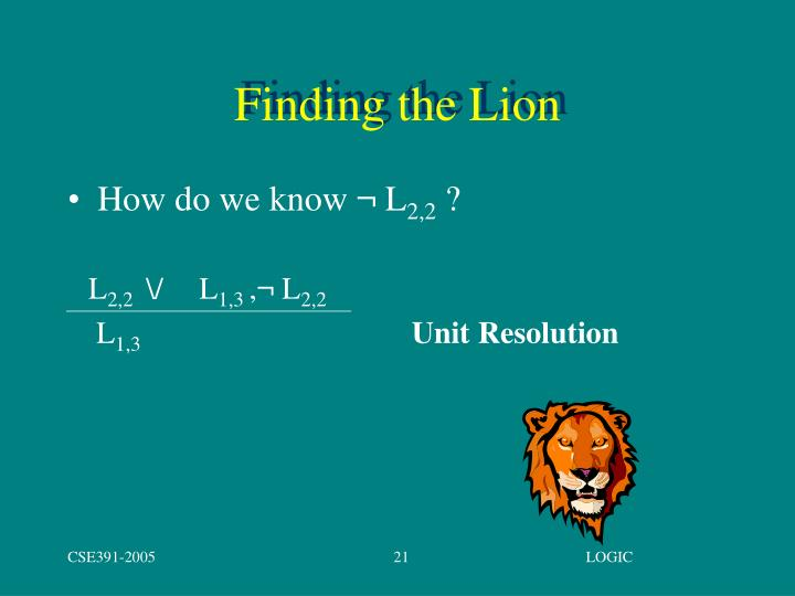 Finding the Lion