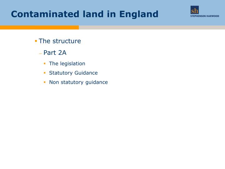 Contaminated land in england1