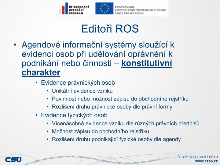 Editoři ROS