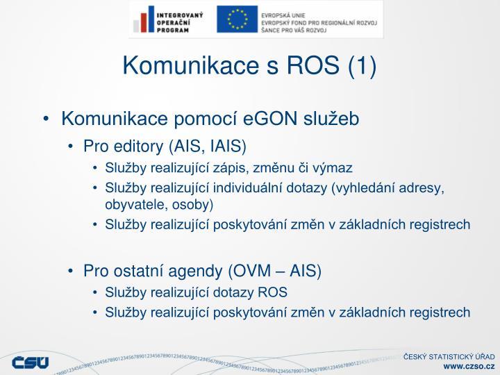 Komunikace s ROS (1)