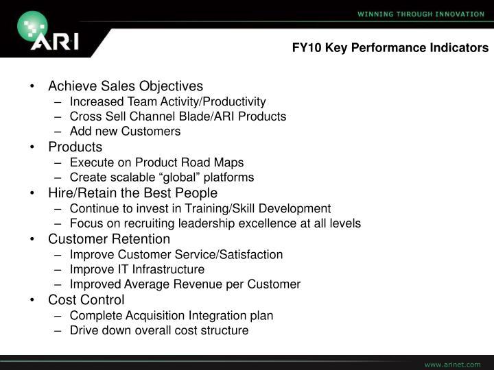FY10 Key Performance Indicators