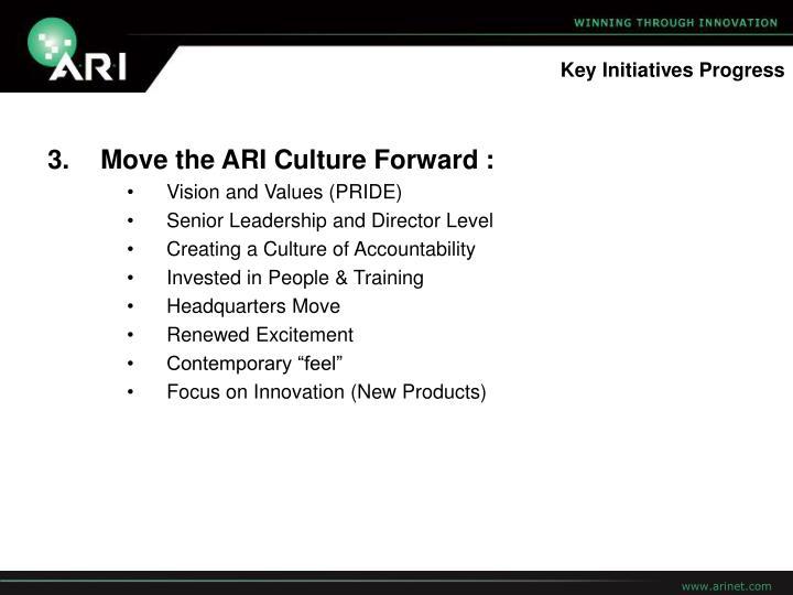 Key Initiatives Progress