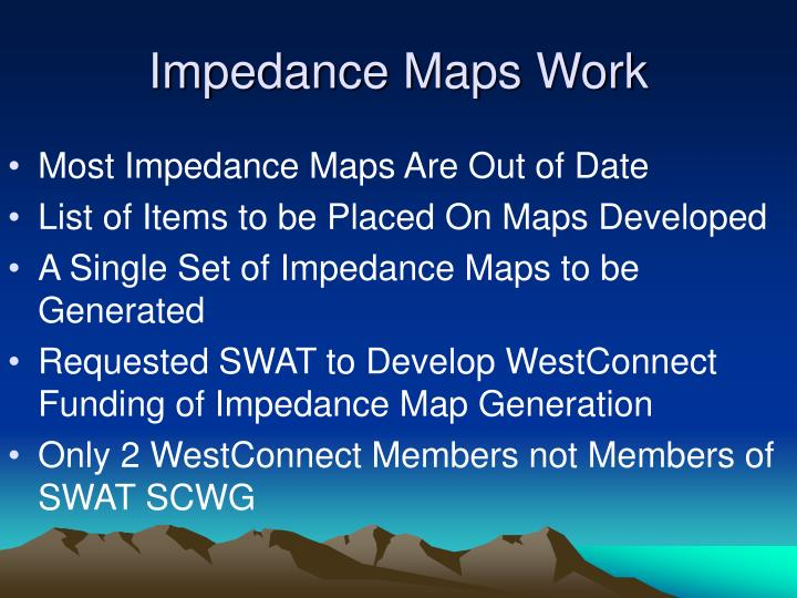 Impedance Maps Work