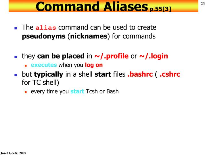Command Aliases