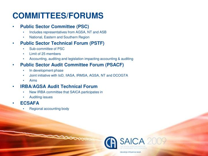COMMITTEES/FORUMS