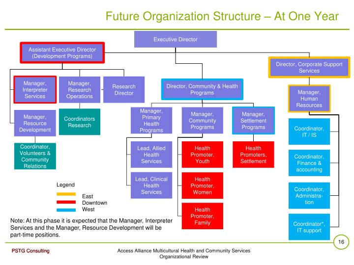 Future Organization Structure – At One Year
