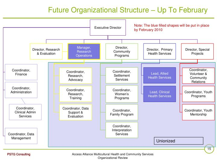 Future Organizational Structure – Up To February