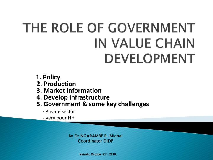 the role of government in policy