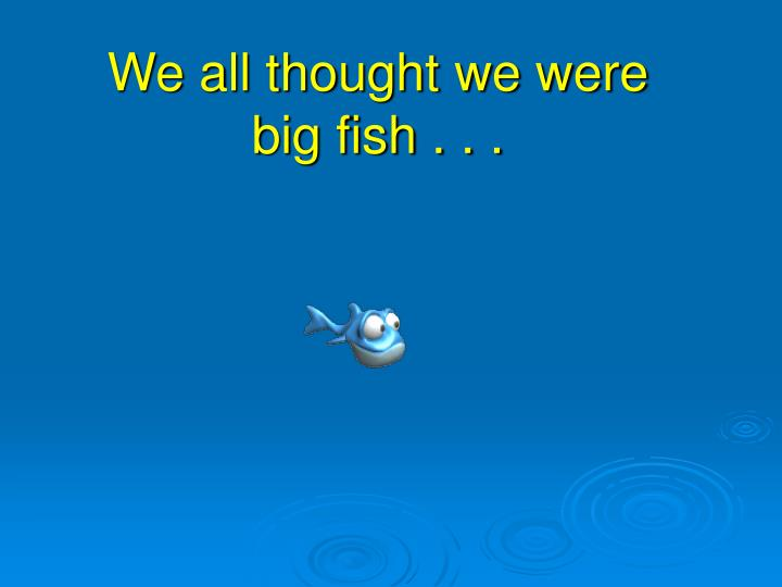 We all thought we were big fish