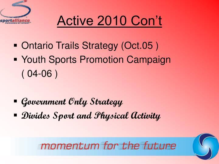 Active 2010 Con't